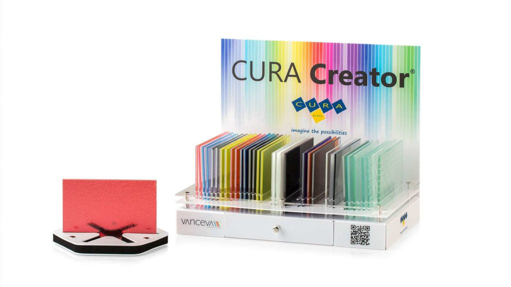 CURA Creator display designed by CURA Glass